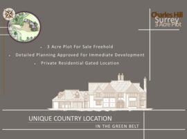 3 ACRE PLOT FOR SALE FREEHOLD, DETAILED PLANNING APPROVED FOR IMMEDIATE DEVELOPMENT